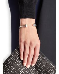 Eddie Borgo - Metallic Pearl-embellished Silver-plated Bracelet - Lyst