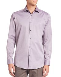 Theory | Purple Slim-fit Dover Cotton Sportshirt for Men | Lyst