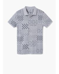 Mango | Gray Printed Cotton Piqué Polo Shirt for Men | Lyst
