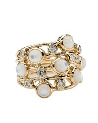Ippolita White Diamond & Mother-Of-Pearl Ring