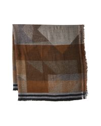 BCBGMAXAZRIA - Brown Color Block Party Scarf - Lyst