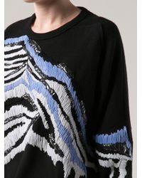 James Long - Black Beaded Sweater - Lyst