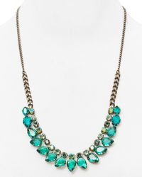 Sorrelli | Blue Pear Shaped Frontal Necklace, 22"