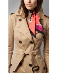 Burberry Brit | Multicolor Insects Of Britain Print Silk Slim Scarf | Lyst