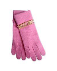 Moschino | Pink Gloves | Lyst