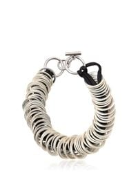 Ann Demeulemeester | Metallic Silver Colored Rings Silk Satin Bracelet | Lyst