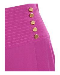 Tory Burch Pink Kathleen Silk Maxi Skirt