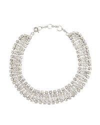 Kenneth Jay Lane - Metallic Silver Crystal Statement Necklace - Lyst