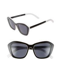 Le Specs - Black 'hollywood Blvd.' 52mm Cat Eye Sunglasses - Lyst