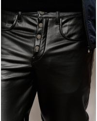 ASOS | Black Drop Crotch Trousers With Biker Styling for Men | Lyst