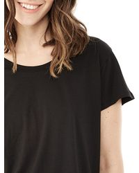 Alternative Apparel | Black Essential Cotton Modal Drop Sleeve T-shirt | Lyst
