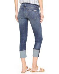 Hudson Jeans Blue Krista Slight Destruction Skinny Jeans In Fierce