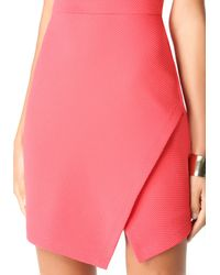 Bebe | Pink Jacquard Asymmetric Dress | Lyst
