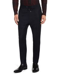 HUGO - Blue Tapered-fit Trousers In A New-wool Blend: 'himesh' for Men - Lyst
