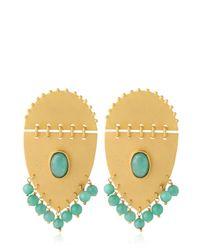Paula Mendoza Metallic Jarama Earrings