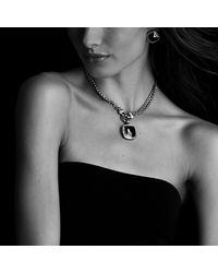 David Yurman - Blue Albion Earrings, 11mm Gemstone - Lyst