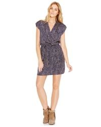 Maison Jules - Multicolor Masion Jules Surplice-neck Dotted A-line Dress - Lyst