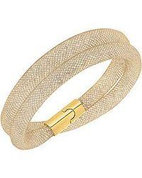 Swarovski - Metallic Stardust Double Bracelet Small 38cm - Lyst