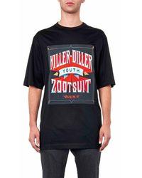 Juun.J Black Killer Diller-Print T-Shirt for men