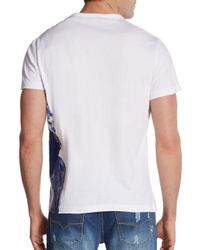 Versace Jeans White Graphic Hercules Cotton Tee for men