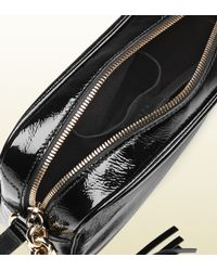 Gucci - Black Soho Soft Patent Leather Disco Bag - Lyst