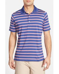 Fairway & Greene | Blue 'sunset' Stripe Moisture Wicking Stretch Jersey Golf Polo for Men | Lyst