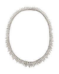 Fred Leighton - Metallic 1930S Platinum Diamond Necklace - Lyst