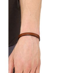 Caputo & Co. - Brown The Clean Leather Bracelet for Men - Lyst
