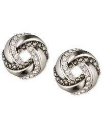 Judith Jack | Metallic Crystal Swirl Stud Earrings | Lyst