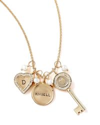 Heather Moore Metallic Initial Channelset Small Heart Charm
