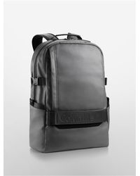 Calvin Klein | Gray Jeans Textured Coated Canvas Backpack for Men | Lyst