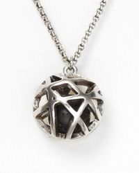 Low Luv by Erin Wasson | Metallic Cage Sphere Necklace | Lyst