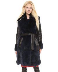 Moschino Cheap and Chic Fur Coat Black
