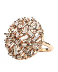 Suzanne Kalan | Metallic Champagne Diamond Cluster Ring | Lyst