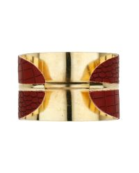 Mikey Metallic Snake Look Curved Cuff