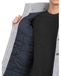 Bark Gray New Short Wool Blend Duffle Coat for men