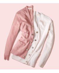 Tory Burch | Pink Merino Jewel-button Cardigan | Lyst