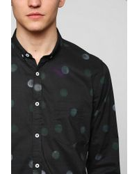 Urban Outfitters | Black Oxford Lads Tiedye Dots Buttondown Shirt for Men | Lyst