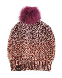 UGG | Multicolor Grand Meadow Beanie W/ Fur Pompom | Lyst