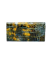 Vivienne Westwood - Multicolor Embossed Crocodile Effect Wallet - Lyst