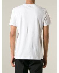 McQ - White Razor-Print T-Shirt for Men - Lyst