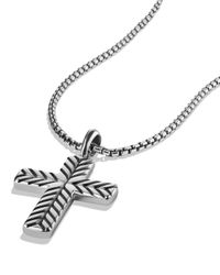 David Yurman Metallic Modern Chevron Cross Necklace for men