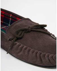 Dunlop Brown Suede Slippers for men