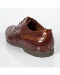 Paul Smith Brown Men's Tan Leather 'ryan' Brogues With Travel Soles for men