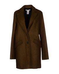 Vanessa Bruno Athé | Brown Coat | Lyst