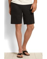 Tommy Bahama | Black 'new St. Thomas' Flat Front Silk & Cotton Shorts for Men | Lyst