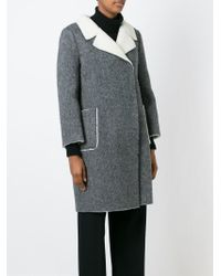 L'Autre Chose - Black Belted Coat - Lyst