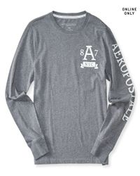 Aéropostale | Gray Long Sleeve A87 Nyc Graphic T | Lyst