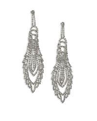 ABS By Allen Schwartz | Metallic Mixers Chandelier Earrings | Lyst