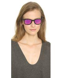 Ray-Ban - Pink Icons Wayfarer Sunglasses - Black/fuxia Mirror - Lyst